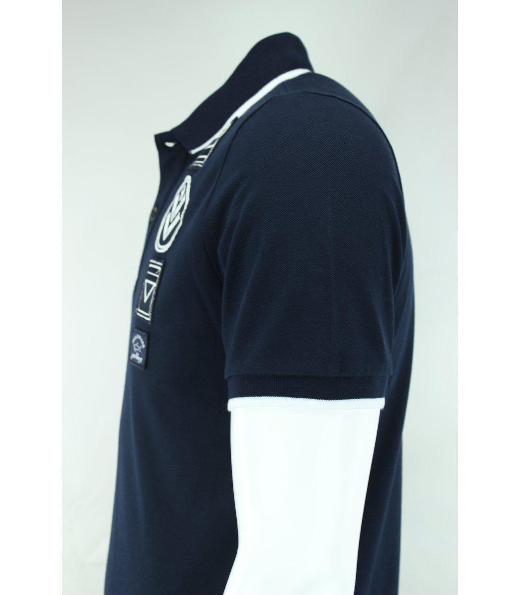 Тёмно-синяя футболка поло Paul&Shark ARMY