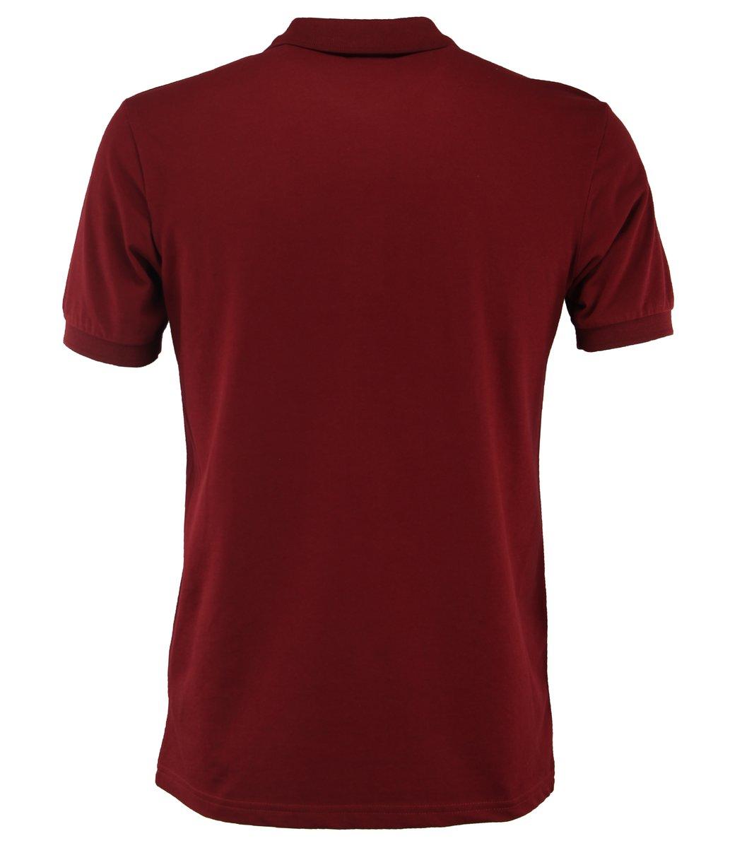 Бордовая футболка поло Paul&Shark Print
