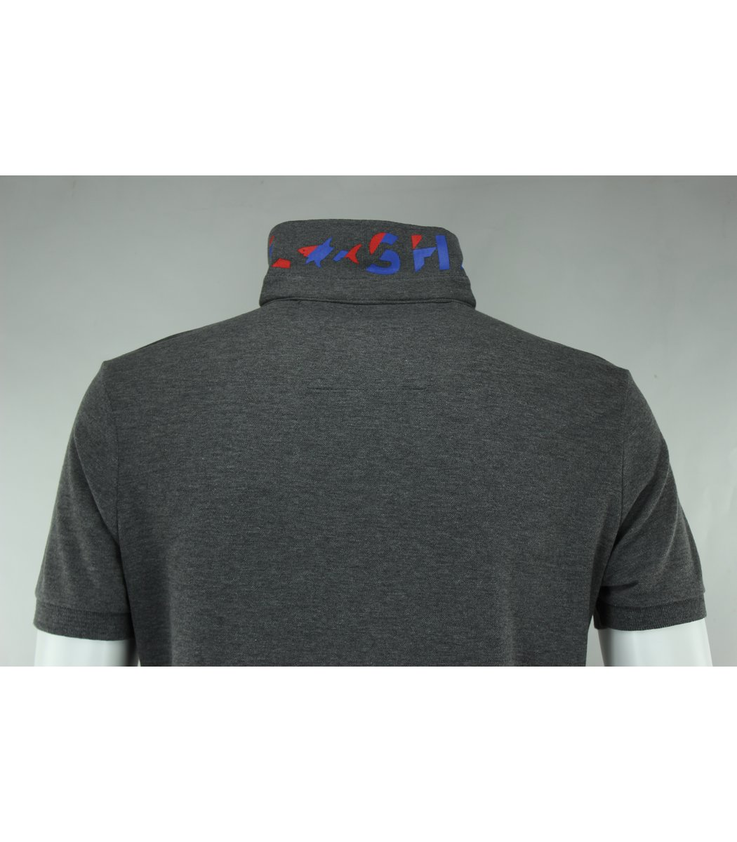 Серая футболка поло Paul&Shark TP3