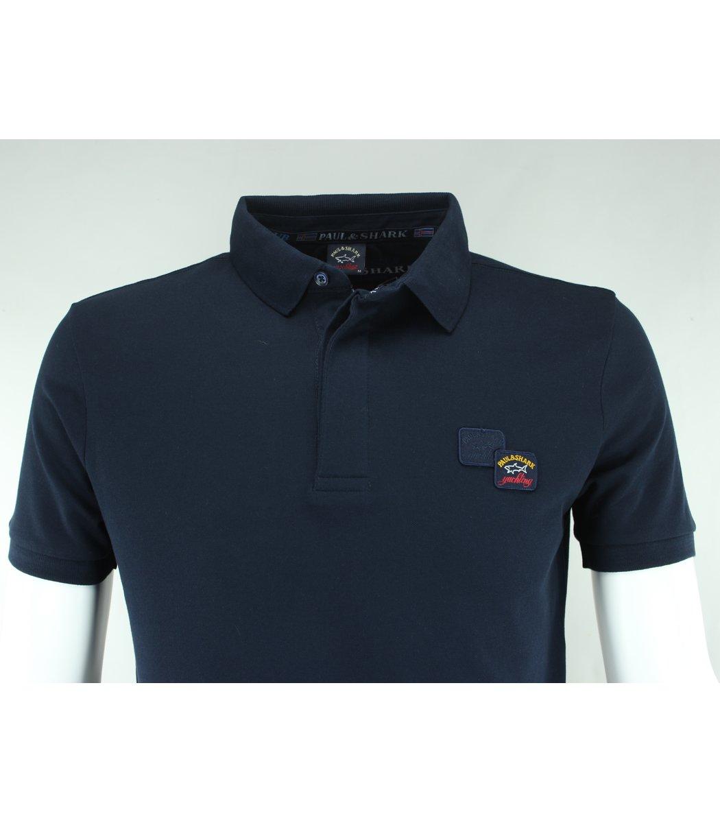 Тёмно-синяя футболка поло Paul&Shark TP3