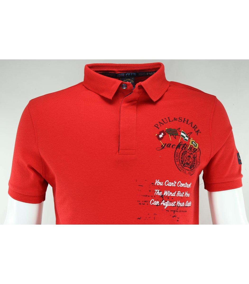Красная футболка поло Paul&Shark F1