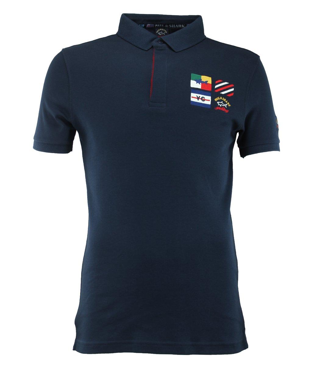 Тёмно-синяя футболка поло Paul&Shark F2