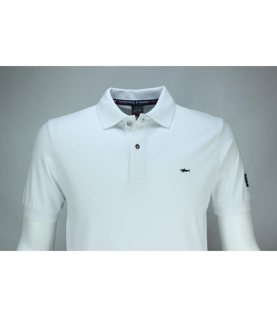 Белая футболка поло Paul&Shark TP1