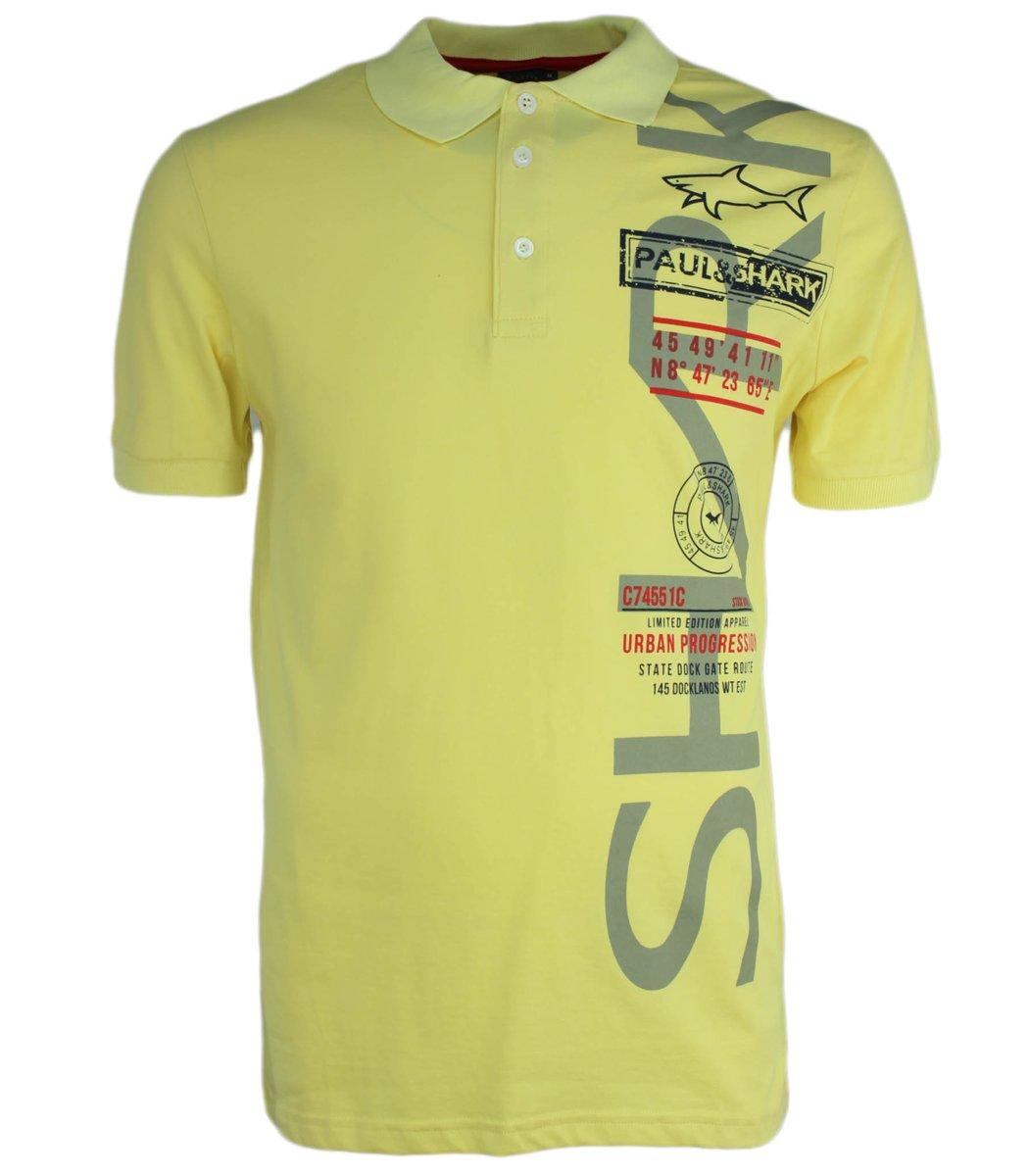 Желтая футболка поло Paul&Shark Print