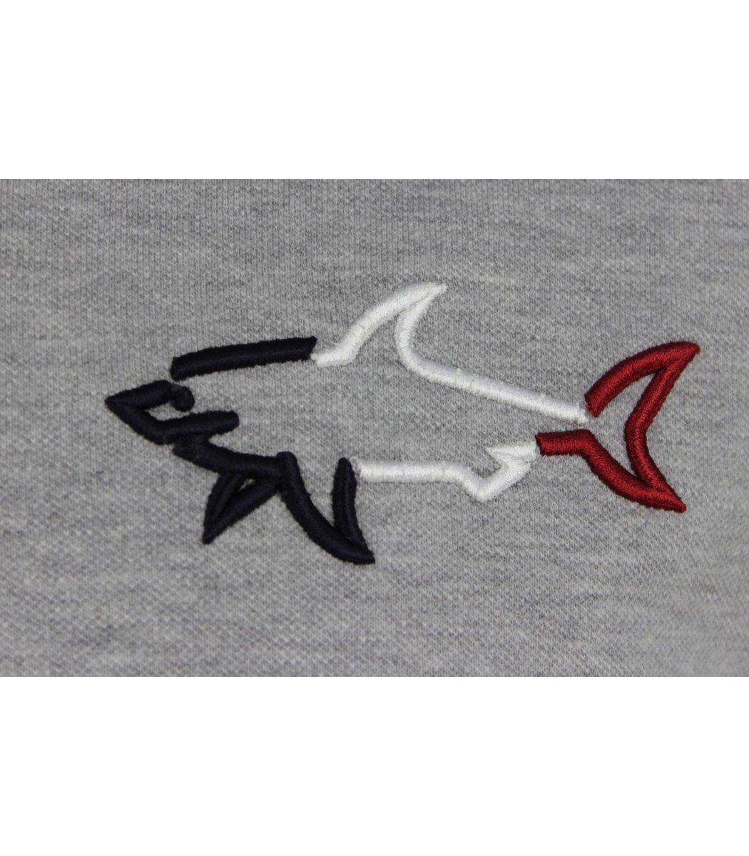 Серая футболка поло Paul&Shark  MPH1