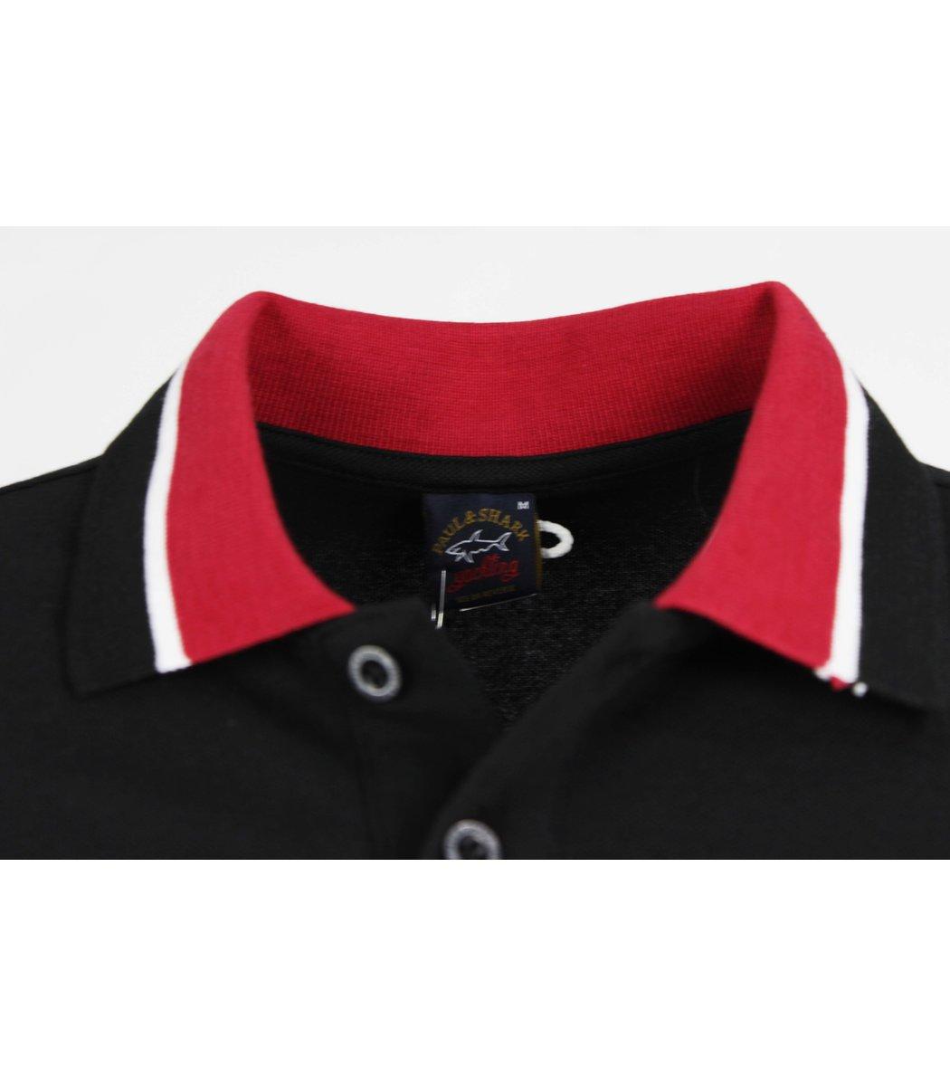 Черная футболка поло Paul&Shark  MPH1