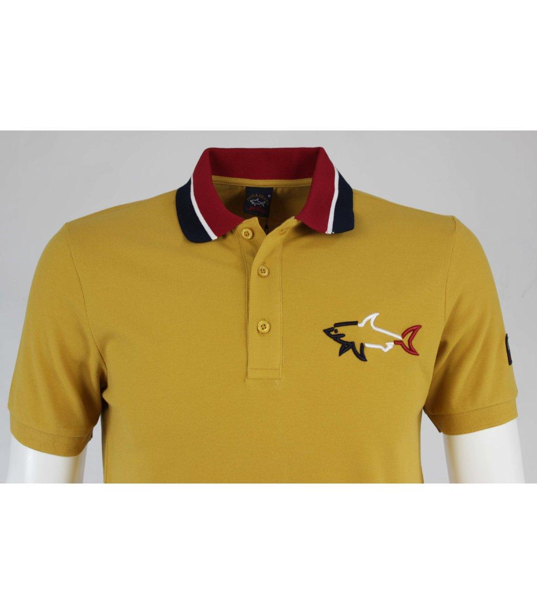 Горчичный футболка поло Paul&Shark  MPH1