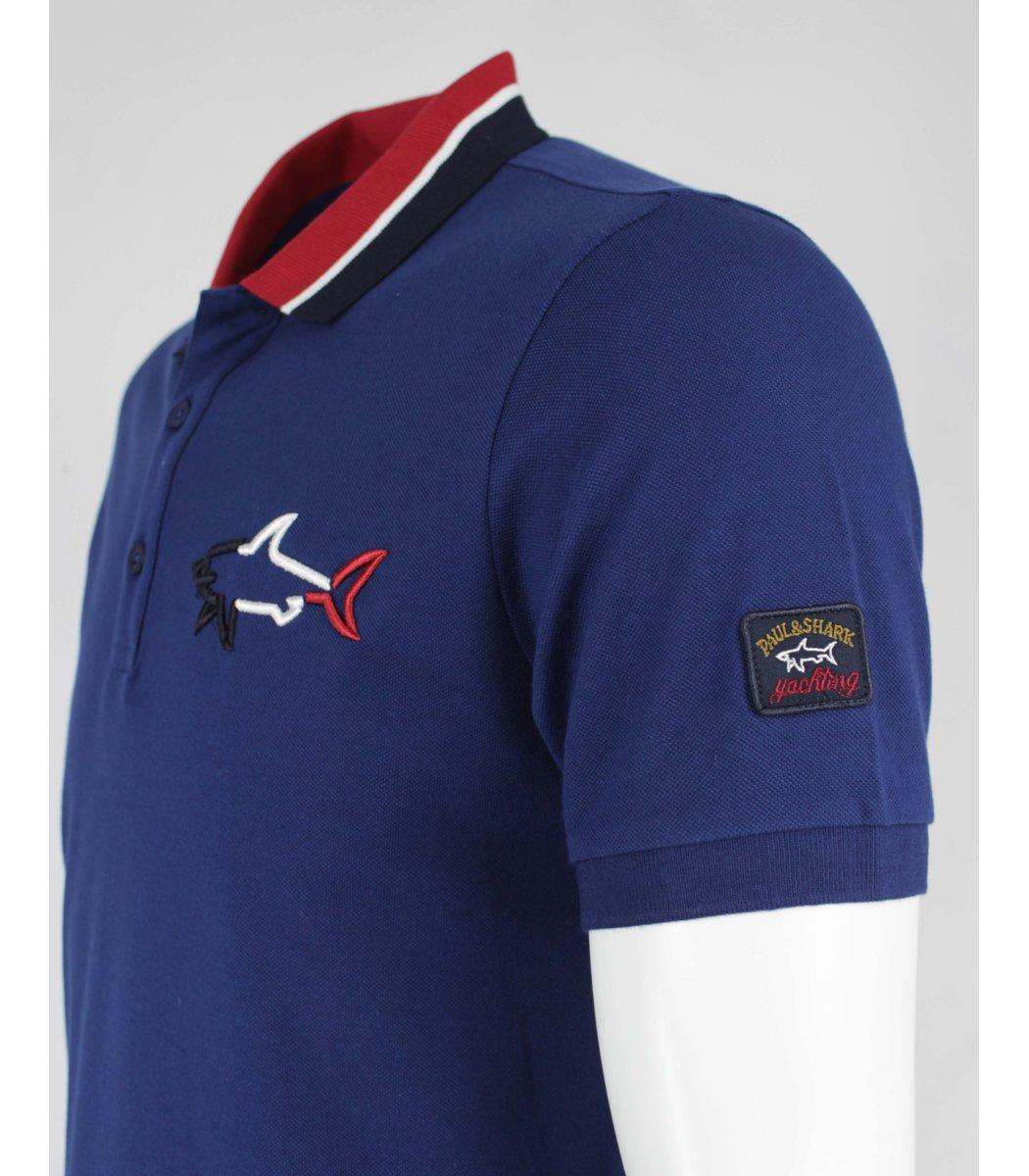 Синяя футболка поло Paul&Shark  MPH1