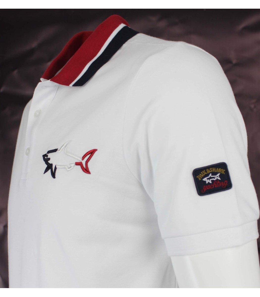 Белая футболка поло Paul&Shark  MPH1