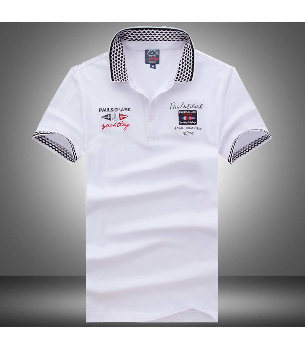 Белая футболка поло Paul Shark N1