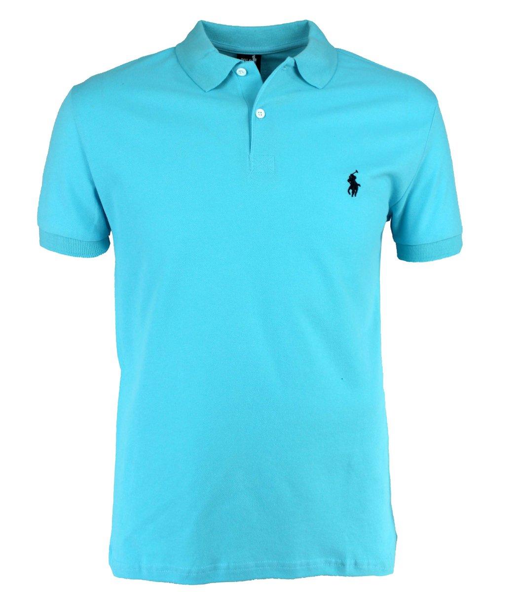 Голубая футболка поло Ralph Lauren R11