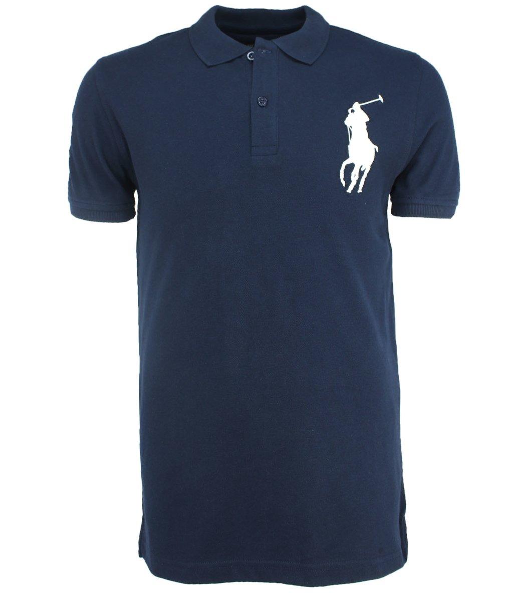 Тёмно-синяя футболка поло Ralph Lauren RL3