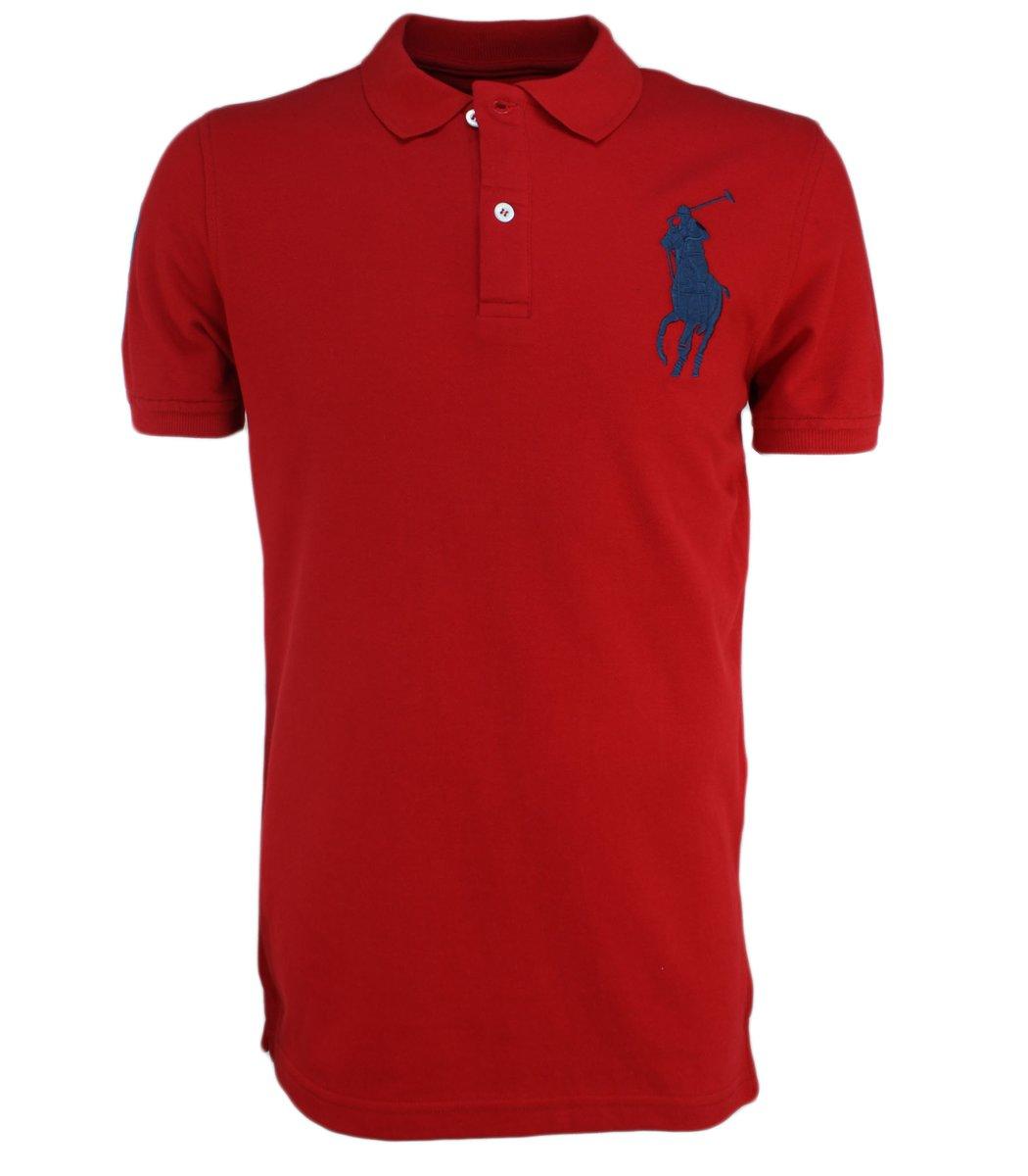 Красная футболка поло Ralph Lauren RL3