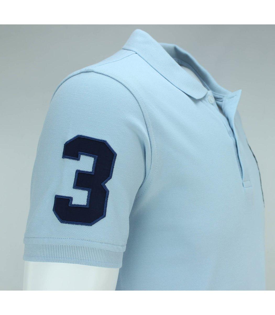 Бледно-голубая футболка поло Ralph Lauren RL3