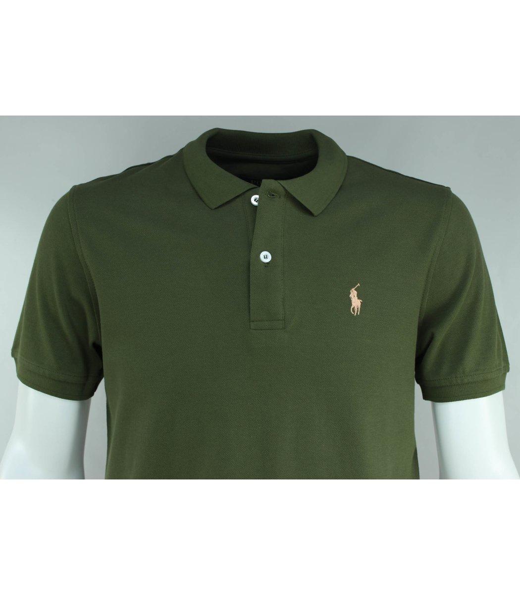 Хаки футболка поло Ralph Lauren R1