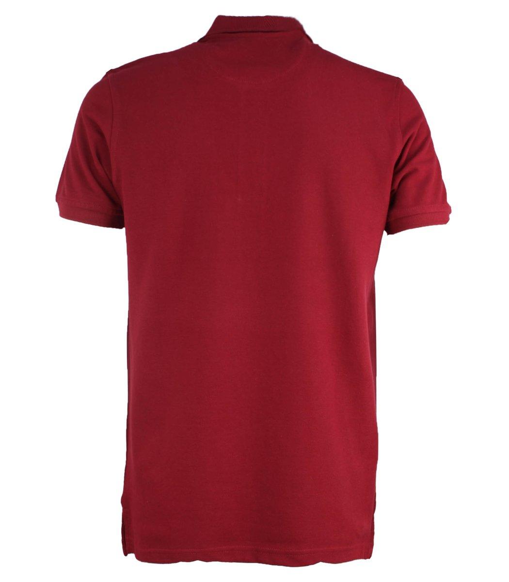 Бордовая футболка поло Ralph Lauren R1