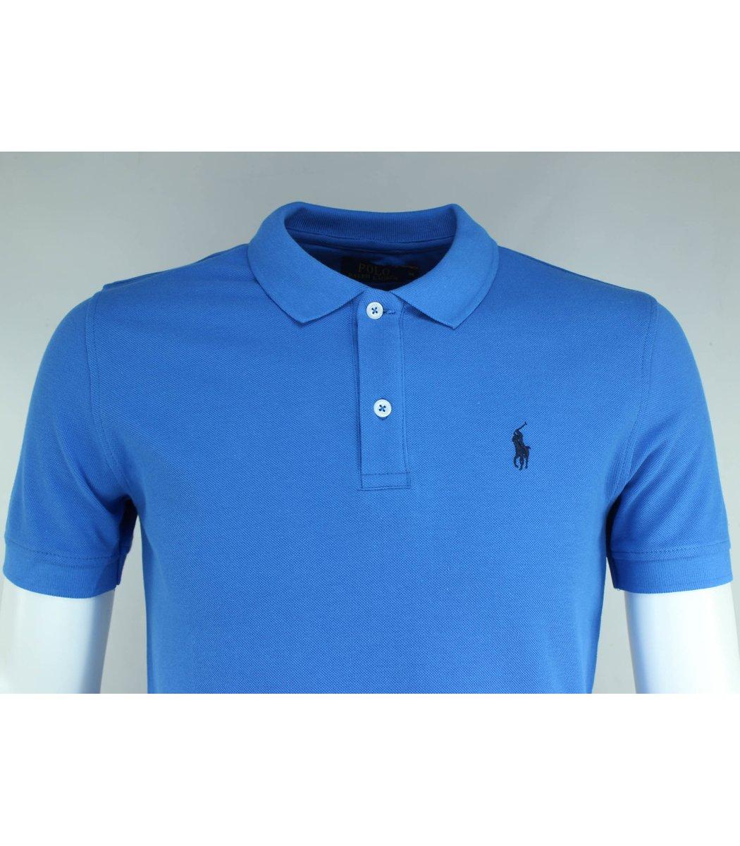 Голубая футболка поло Ralph Lauren R1