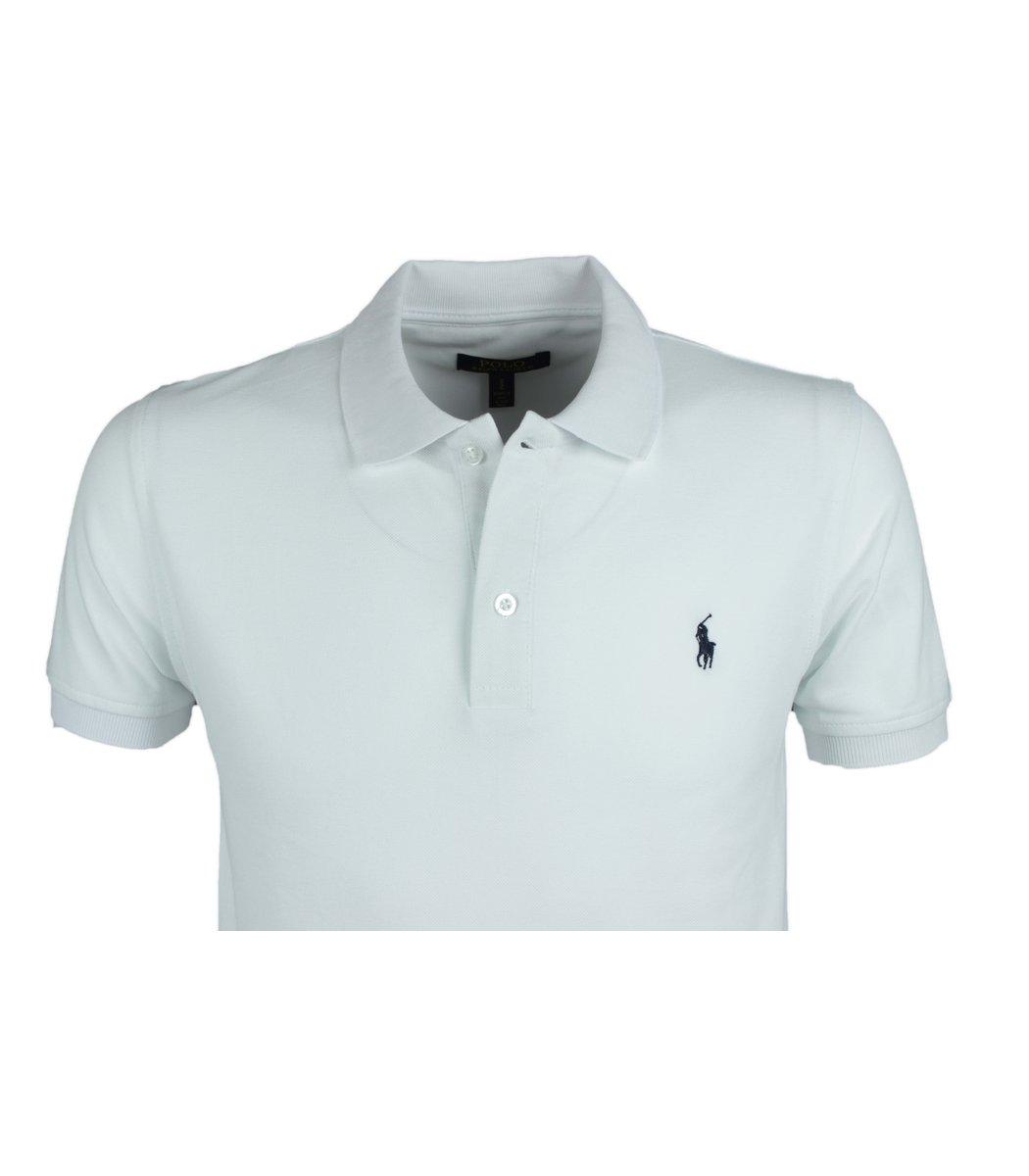 Белая футболка поло Ralph Lauren R10