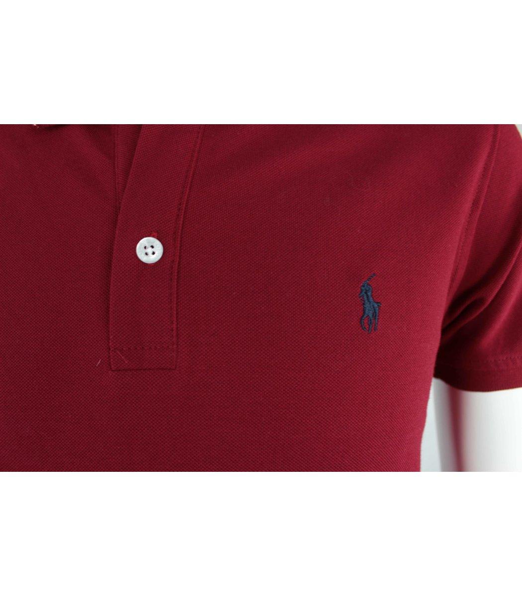 Бордовая футболка поло Ralph Lauren R10