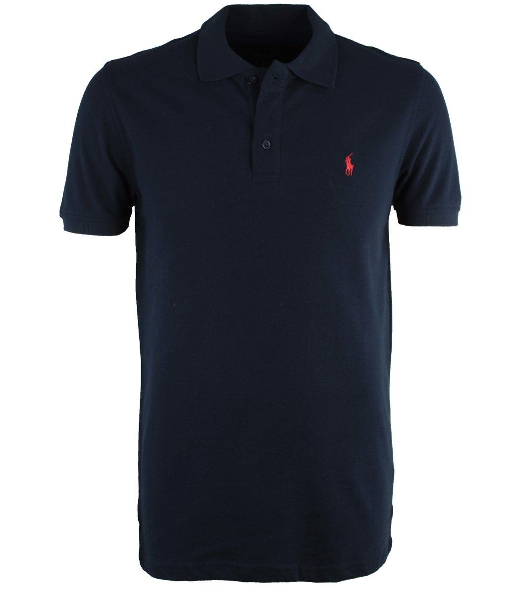 Темно-синяя футболка поло Ralph Lauren R10