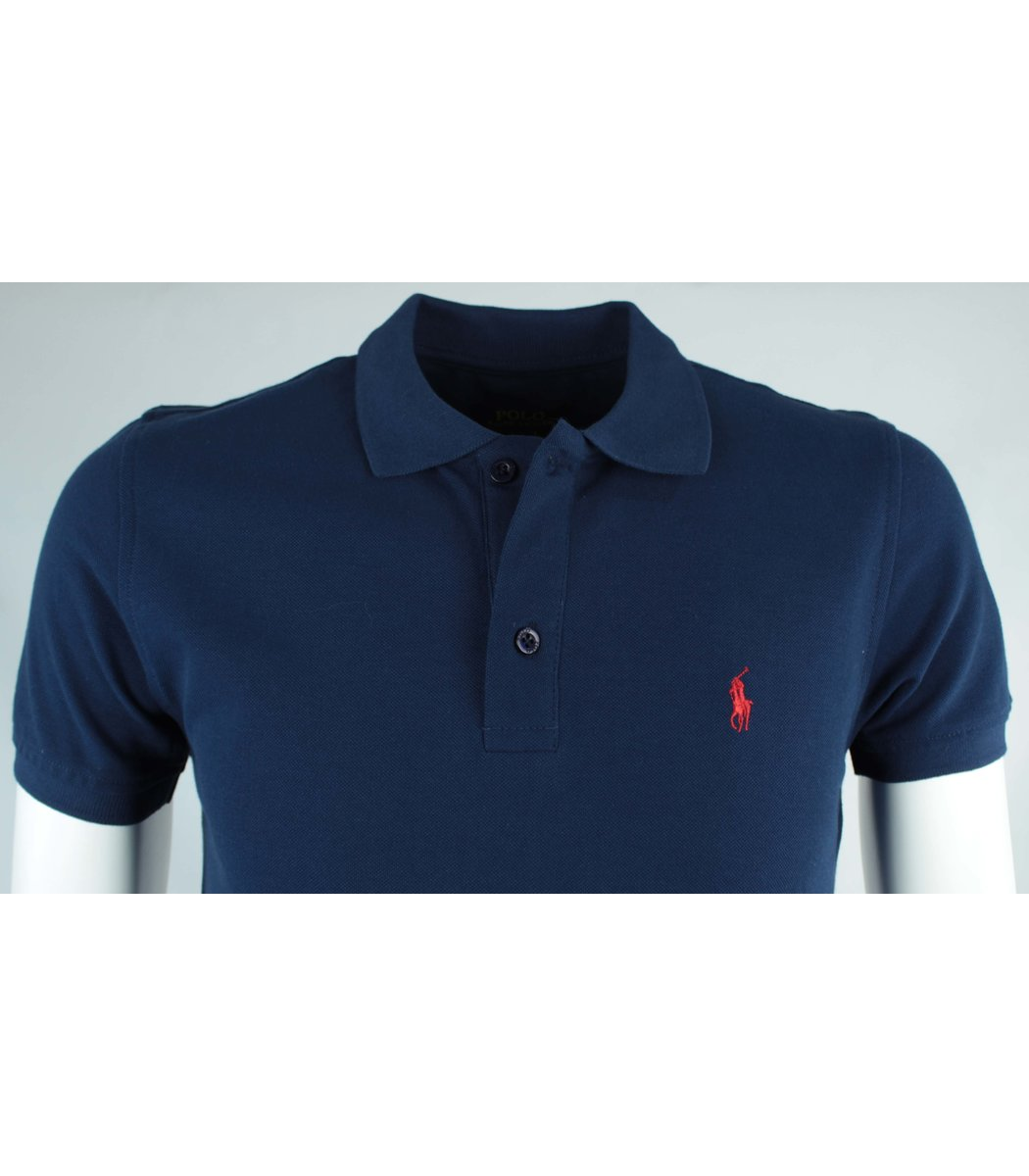 Синяя футболка поло Ralph Lauren R10