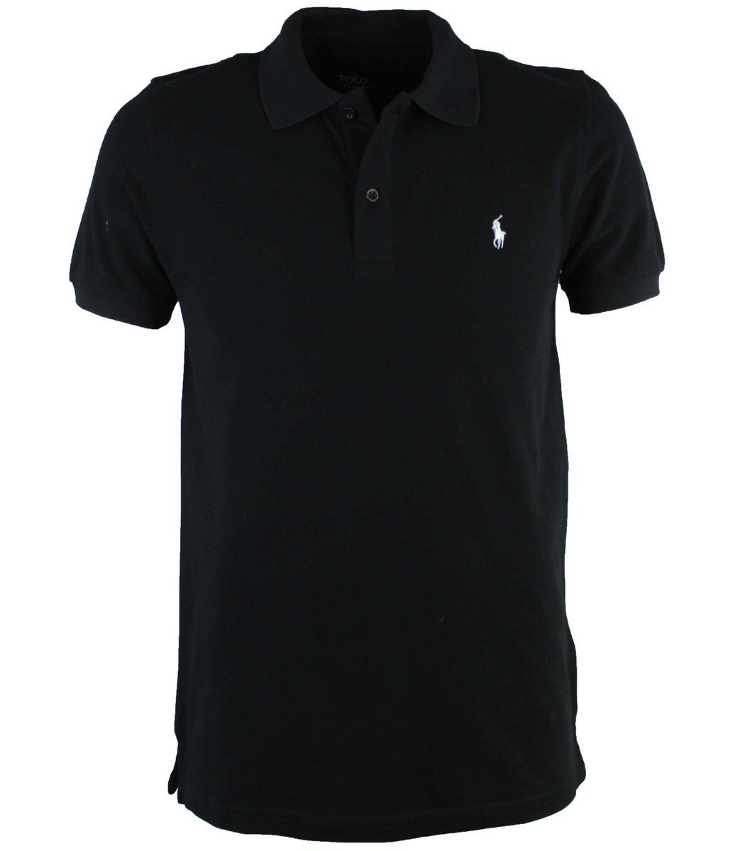 Черная футболка поло Ralph Lauren R10