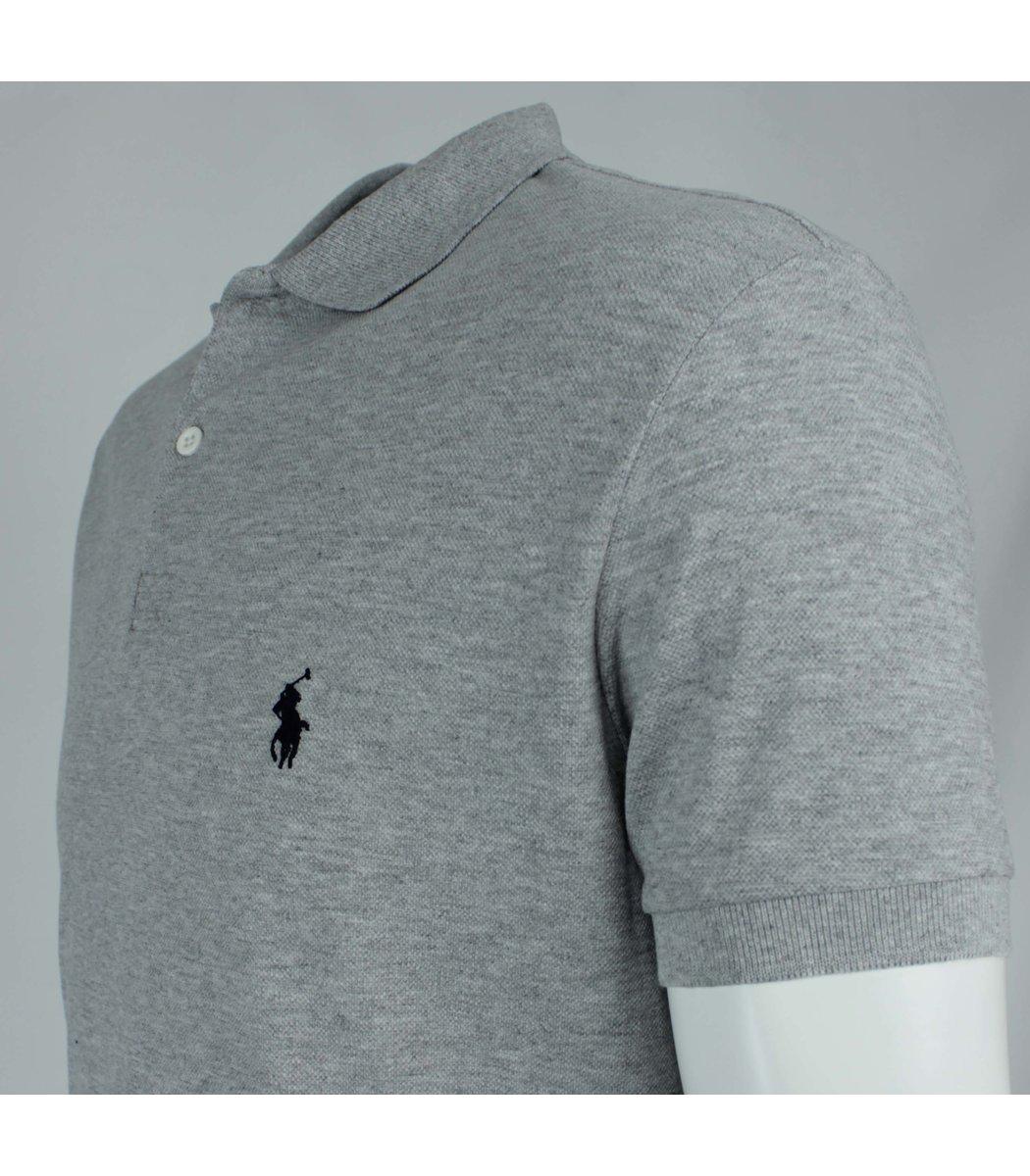 Серая футболка поло Ralph Lauren R11