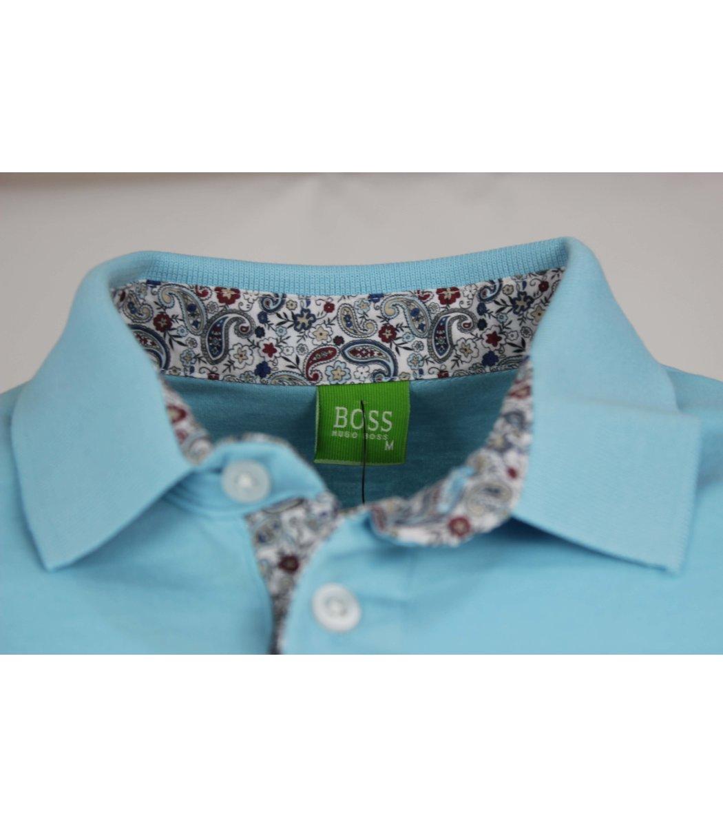 Бледно-голубая футболка поло Ralph Lauren R11
