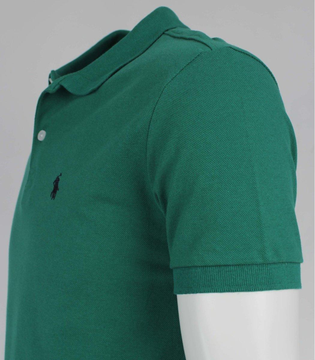 Зеленая  футболка поло Ralph Lauren R11