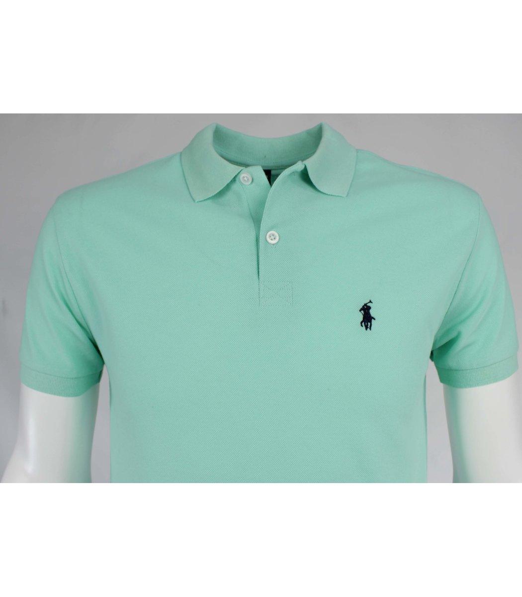 Мятная футболка поло Ralph Lauren R11