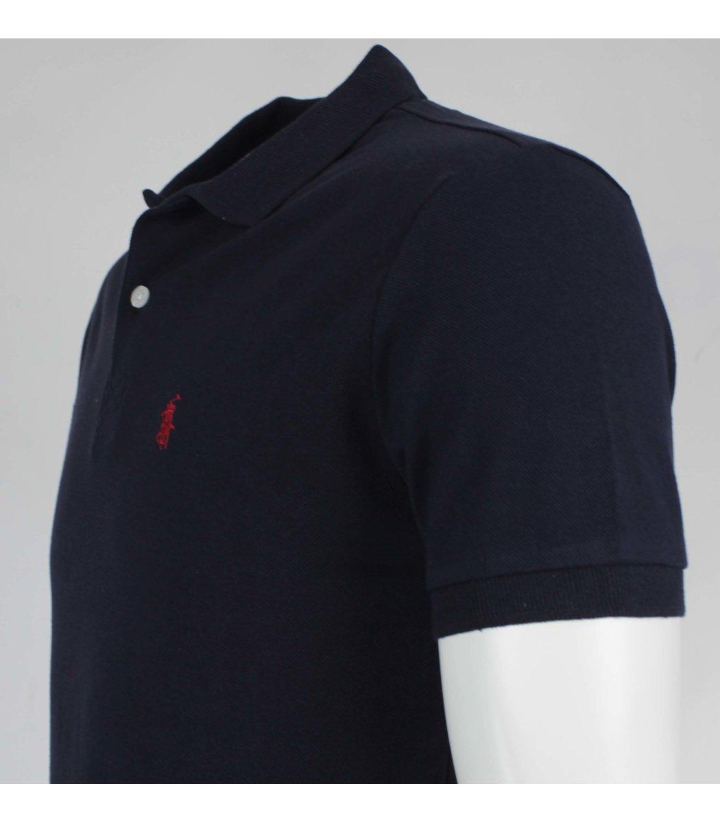 Темно-синяя футболка поло Ralph Lauren R11