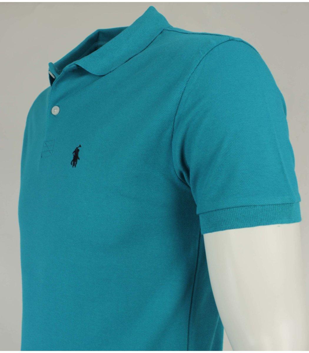 Бирюзовая футболка поло Ralph Lauren R11