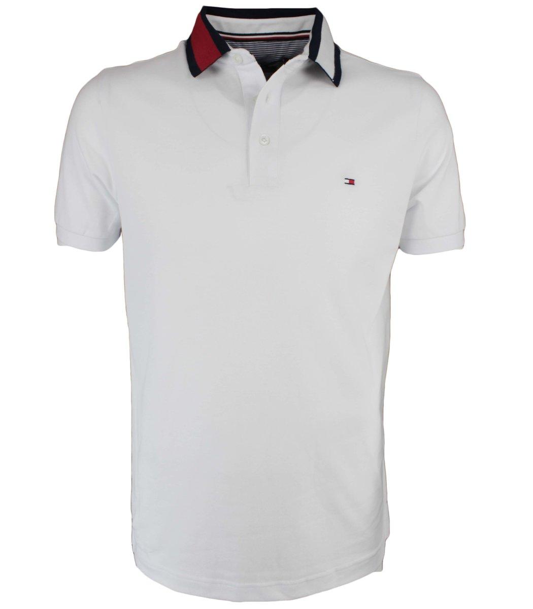 Белая футболка поло Tommy Hilfiger T6 (2)