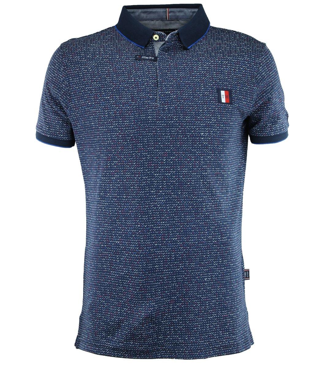 Тёмно-синяя футболка поло Tommy Hilfiger TH5