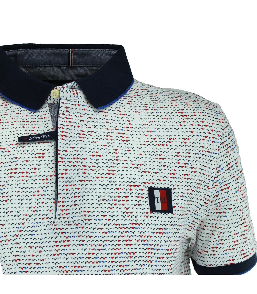 Белая футболка поло Tommy Hilfiger TH5