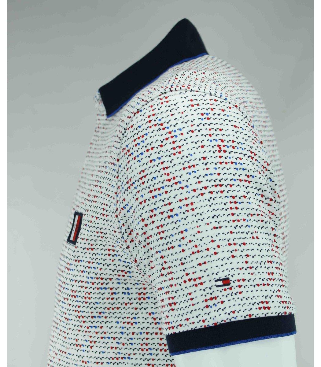 Белая футболка поло Tommy Hilfiger TH5
