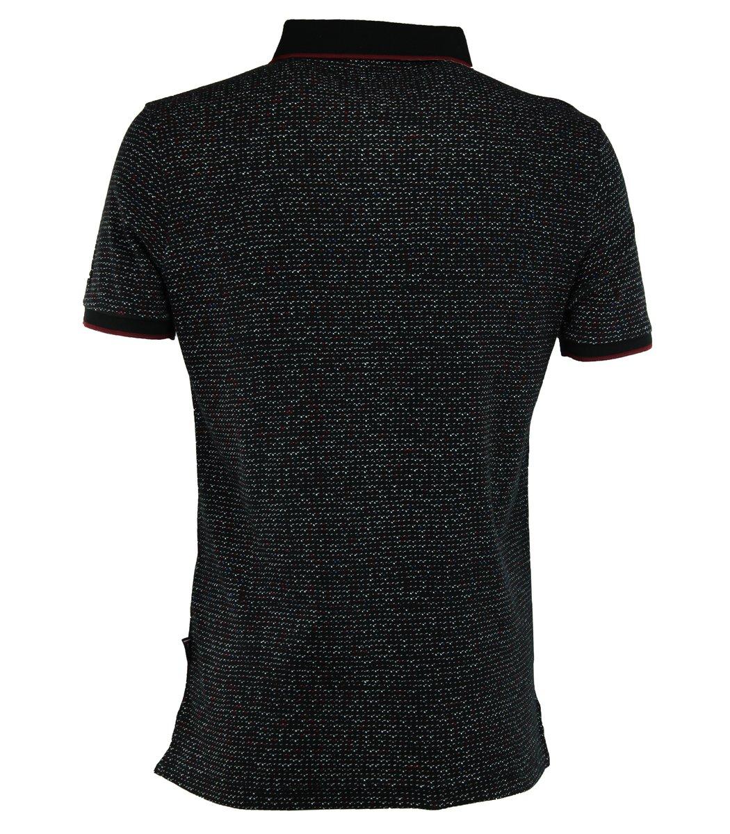 Чёрная футболка поло Tommy Hilfiger TH5