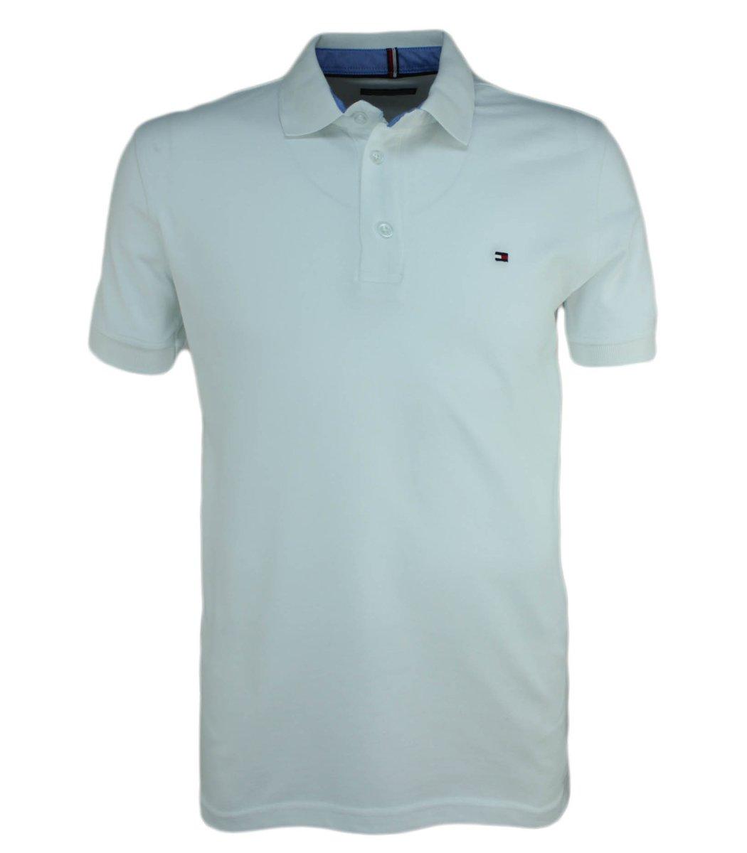 Белая футболка поло Tommy Hilfiger T3