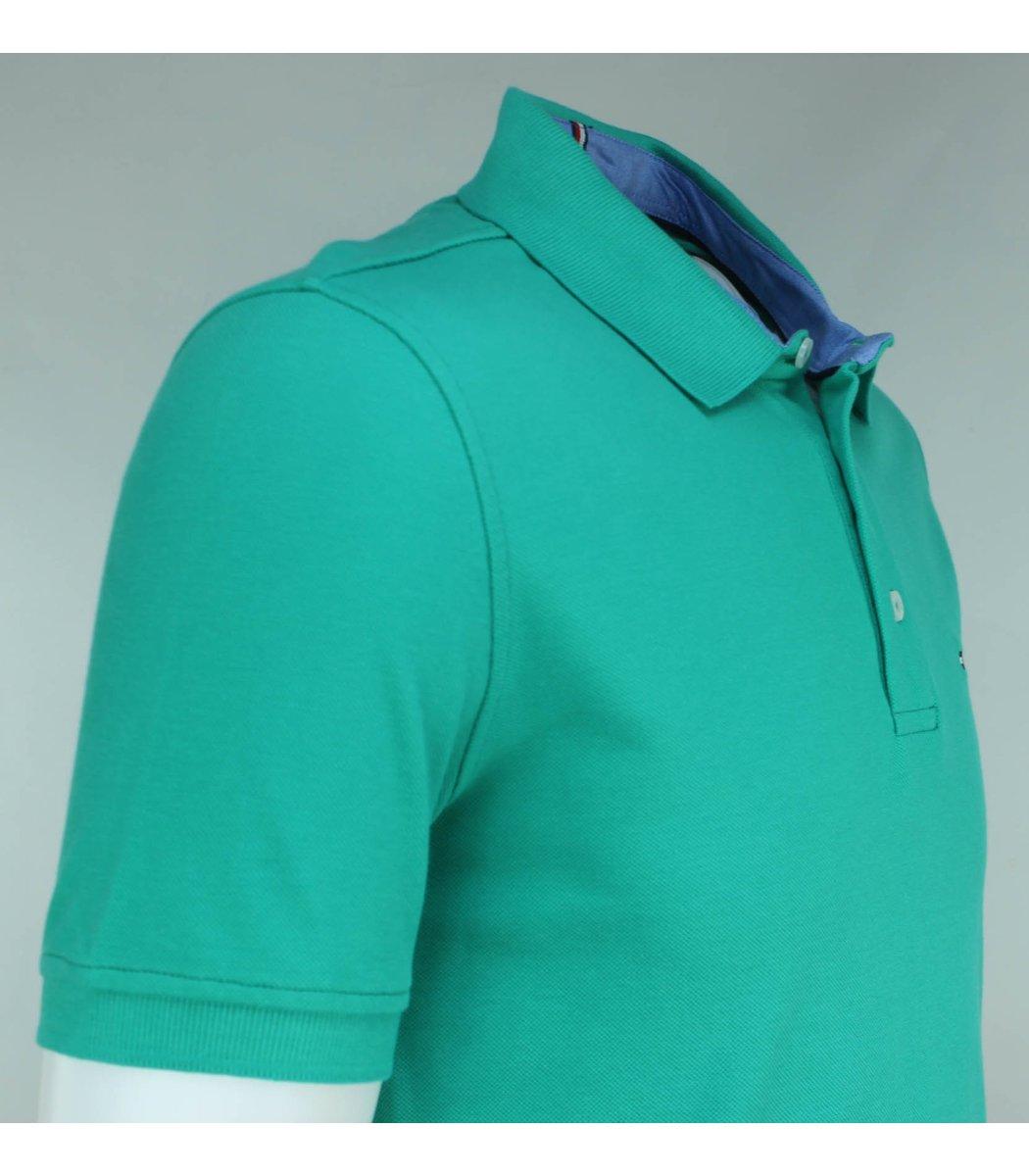 Мятная футболка поло Tommy Hilfiger T3