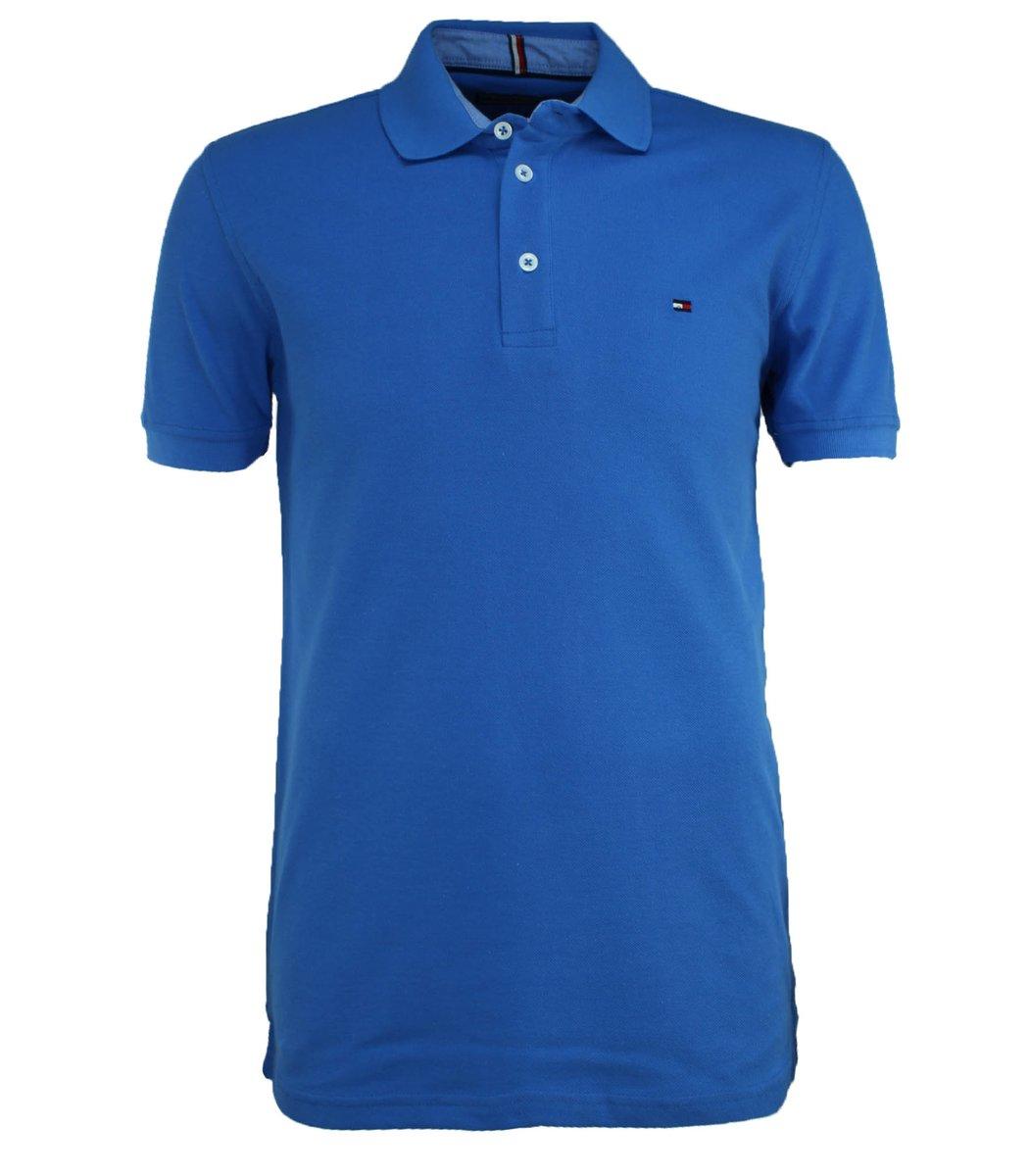 Синяя футболка поло Tommy Hilfiger T3