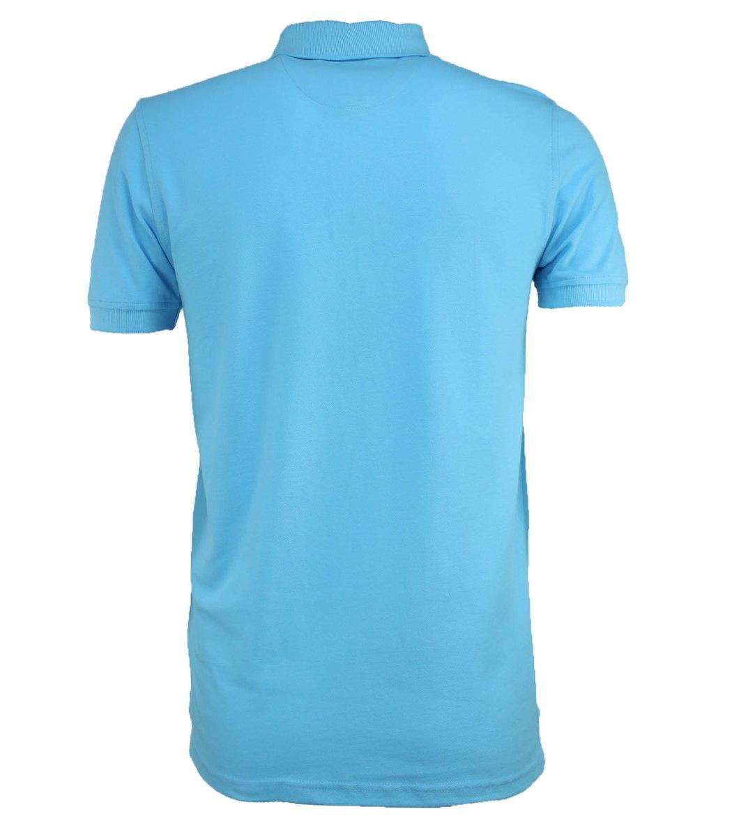 Голубая футболка поло Tommy Hilfiger T3