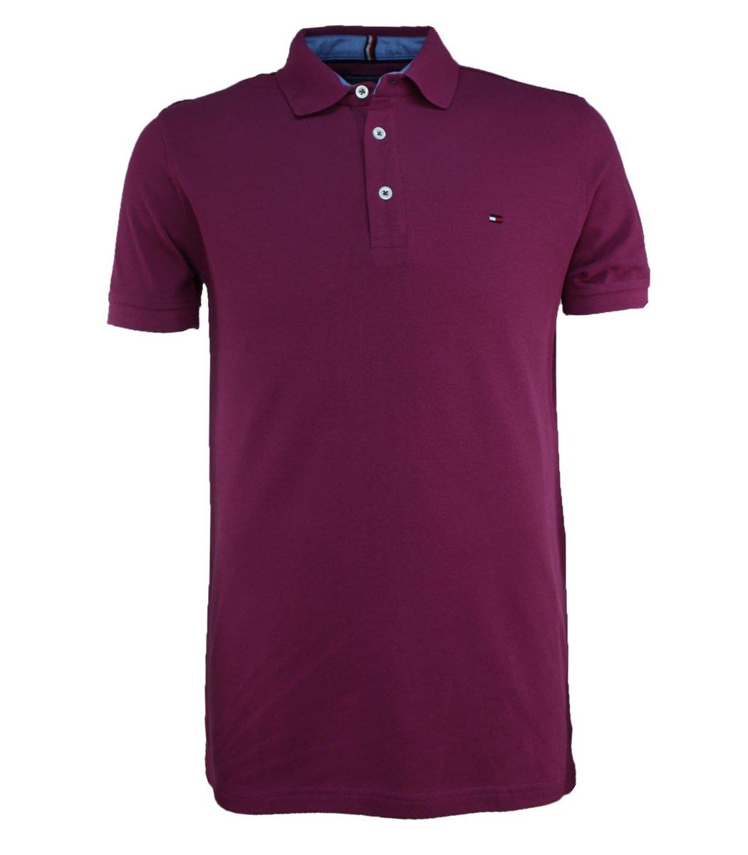 Сливовая футболка поло Tommy Hilfiger T3