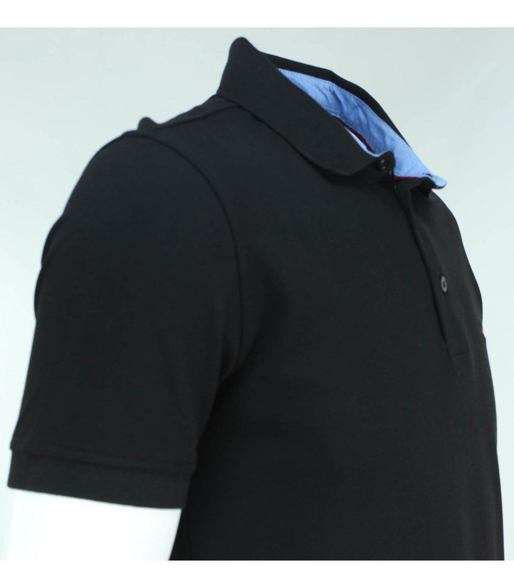 Чёрная футболка поло Tommy Hilfiger T3