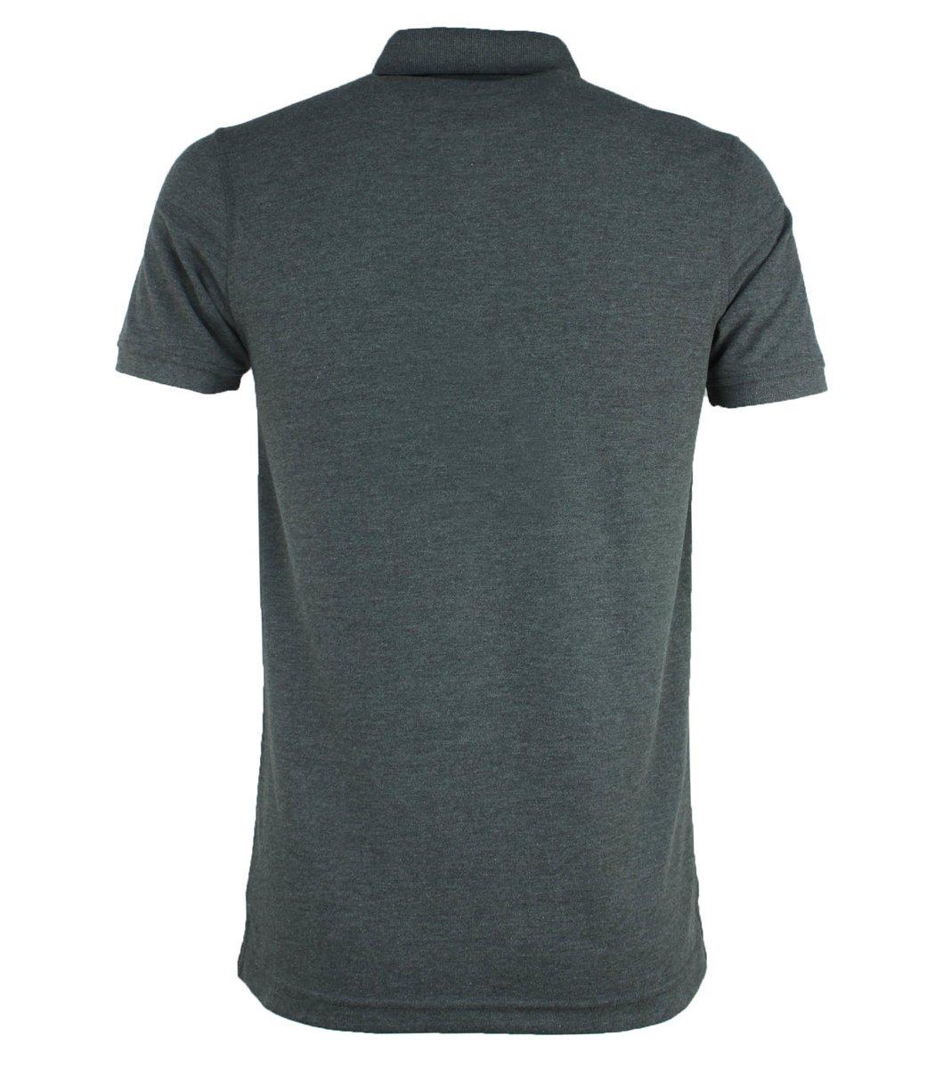 Серая классическая футболка поло Tommy Hilfiger T4