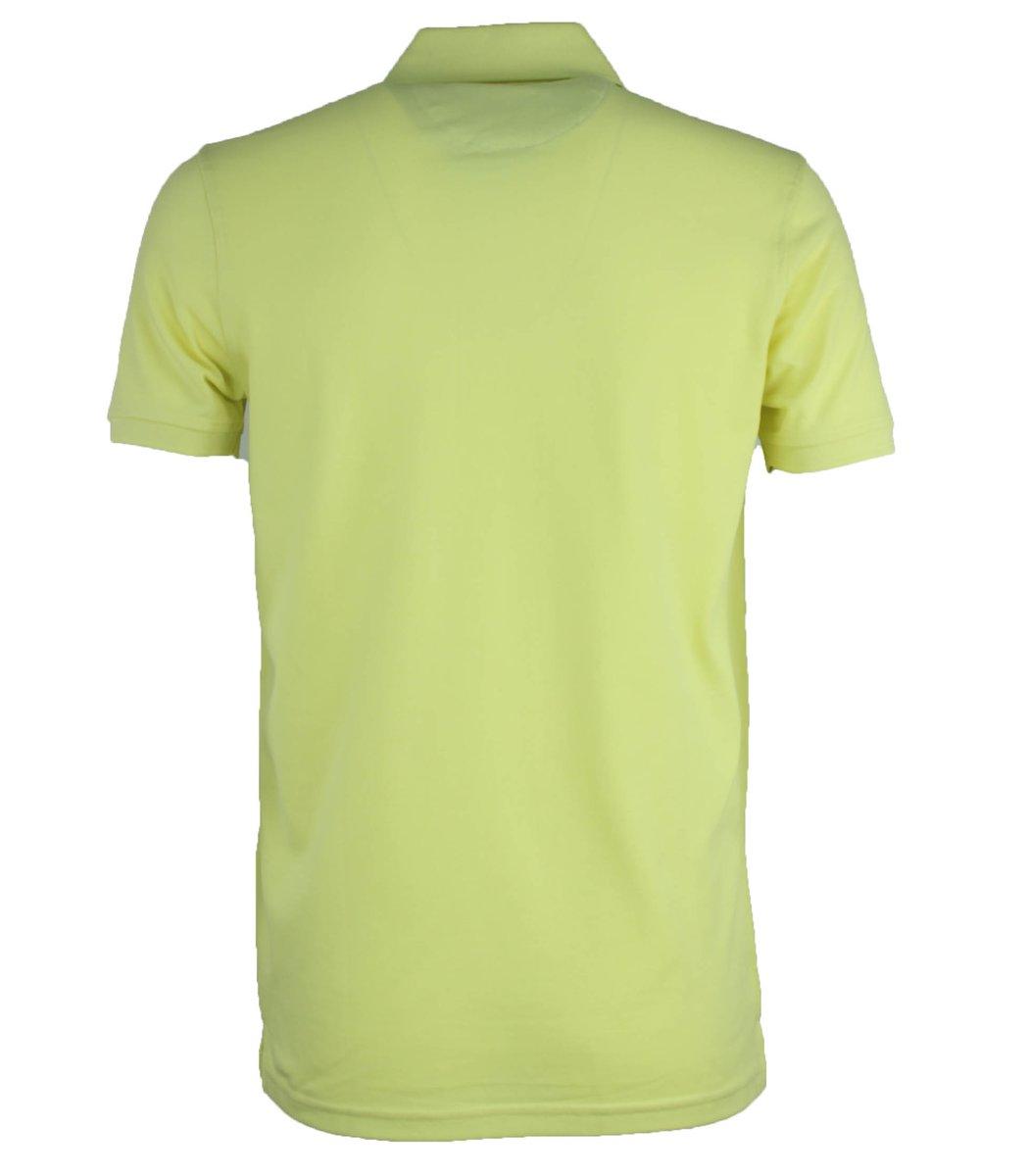 Желтая классическая футболка поло Tommy Hilfiger T4