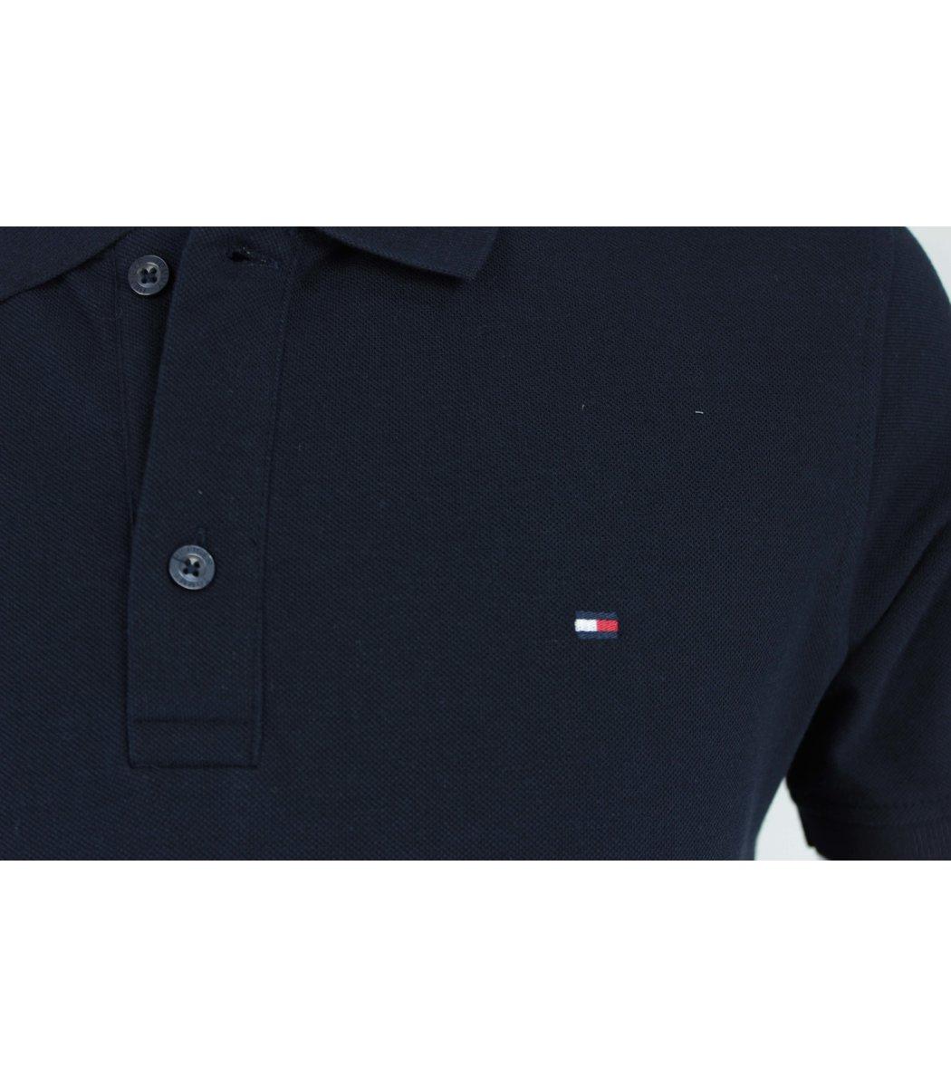 Тёмно-синяя футболка поло Tommy Hilfiger T5