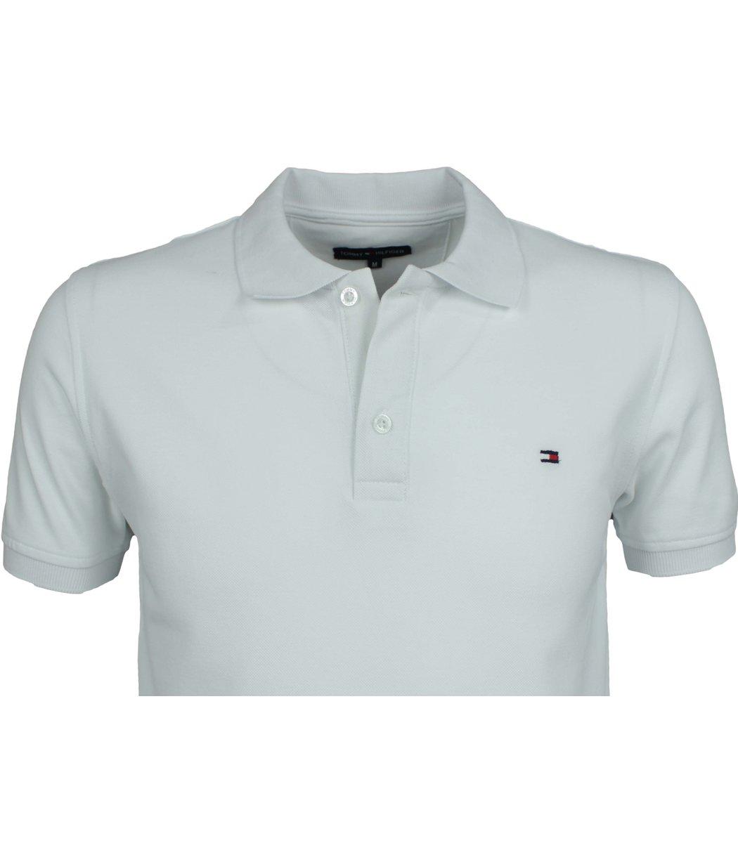 Белая футболка поло Tommy Hilfiger T5