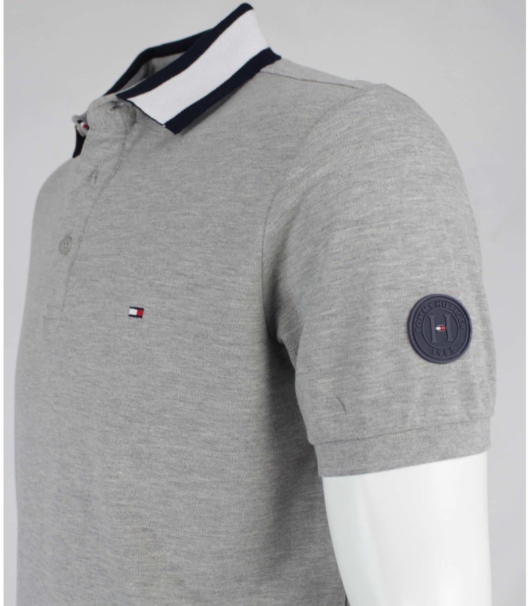 Серая футболка поло Tommy Hilfiger T6 (2)
