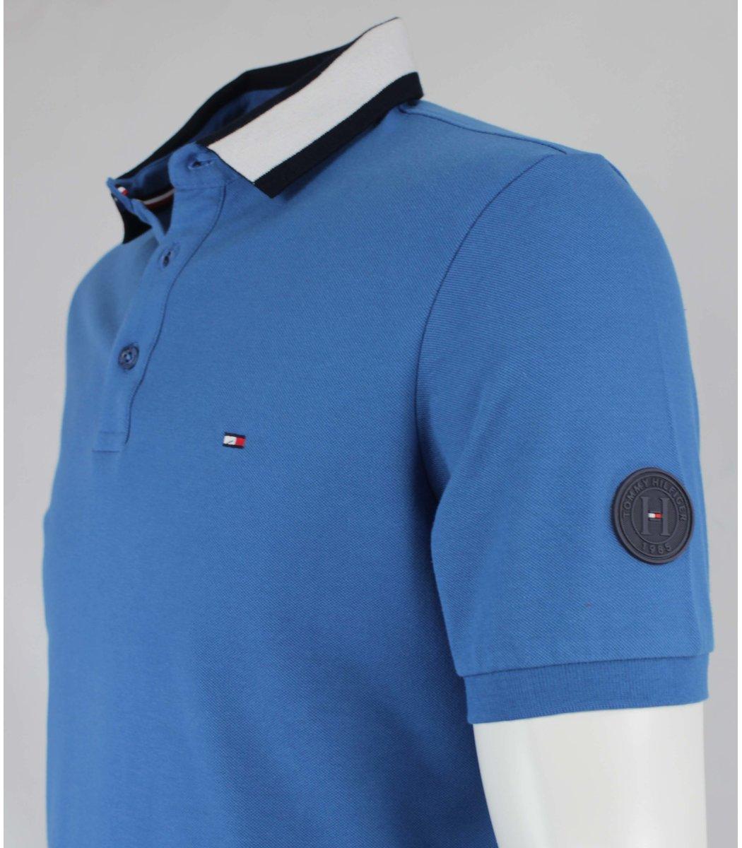 Синяя футболка поло Tommy Hilfiger T6 (2)