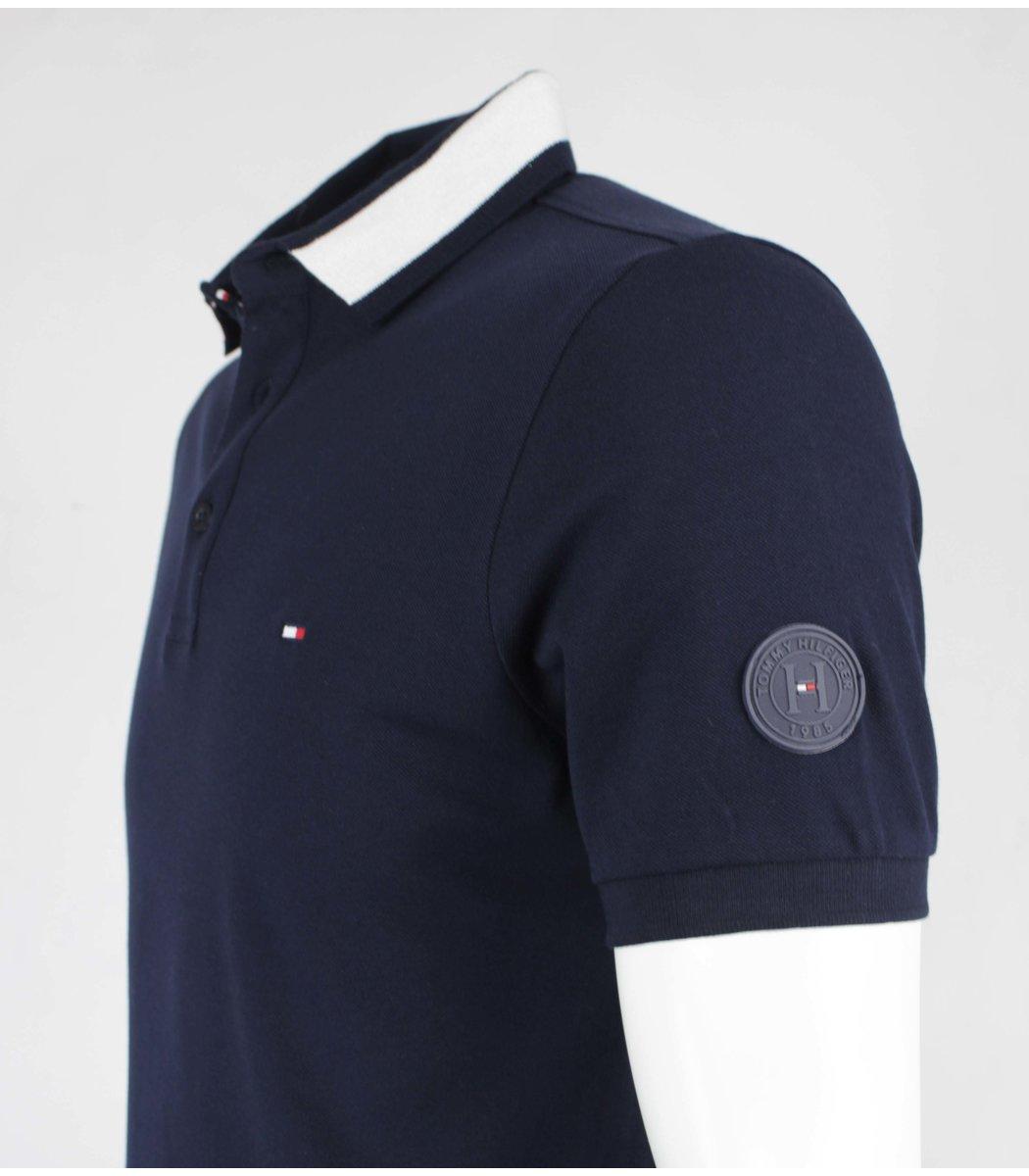 Темно синяя футболка поло Tommy Hilfiger T6 (2)